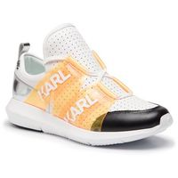 Sneakersy - kl61123 white lthr w/orange marki Karl lagerfeld