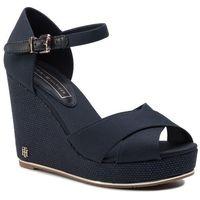 Sandały TOMMY HILFIGER - Feminine Wedge Sandal Basic FW0FW04078 Midnight 403, w 2 rozmiarach
