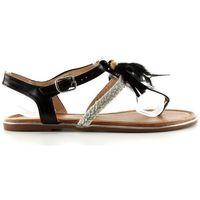 Buty obuwie damskie Sandałki z piórkami boho sl76 black