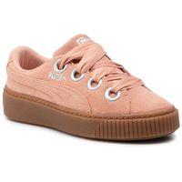 Puma Sneakersy - platform kiss suede 366461 03 peach beige/puma silver
