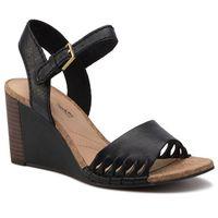 Sandały - spiced poppy 261318344 black leather, Clarks, 36-41