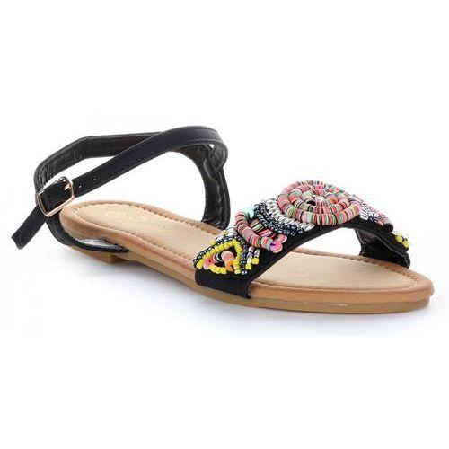 Modne sandały damskie ze zdobieniami czarne (kolory), Gatisa