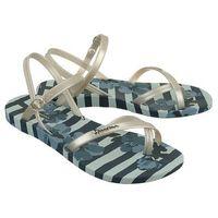 82291 fashion sand. v fem 21345 blue/silver, sandały damskie - niebieski, Ipanema