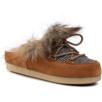 Kapcie MOON BOOT - Far Side Sabot Faux Fox Fur 242013001 Whisky, kolor brązowy