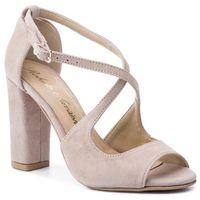 Sandały ROBERTO - 2772 Cappucino Zamsz, w 5 rozmiarach