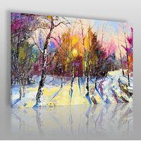 Vaku-dsgn Zimowy poranek - nowoczesny obraz do salonu
