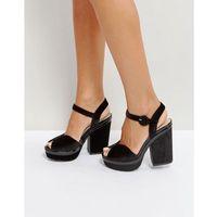 velvet platform sandal - black marki Qupid