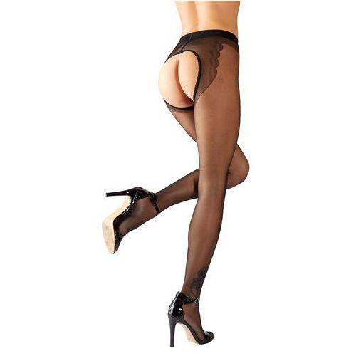 Rajstopy typu open - ctoth Crotchless Tights, Kolor: Czarny, Rozmiar: 4, kolor czarny
