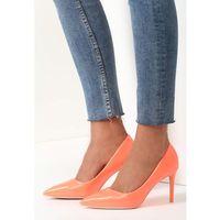 Vices Pomarańczowe szpilki killer heels