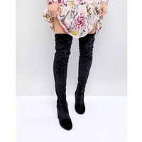 over the knee velvet boot - black marki Miss selfridge