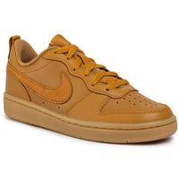Buty - court borough low 2 (gs) bq5448 700 wheat/wheat gum/light brown, Nike
