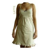 Koszula nocna ciążowa - latte na ramiączkach marki Dolce sonno