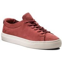 Sneakersy - l.12.12 unlined 1183 caw 7-35caw0018262 red/off wht, Lacoste