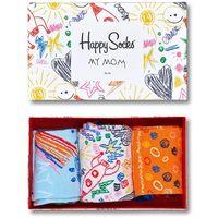 Happy socks Zestaw 3 par wysokich skarpet damskich - xmot08-2000 kolorowy
