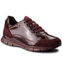 Sneakersy GEOX - D Sukie B D84F2B 0DE22 C7357 Dk Burgundy