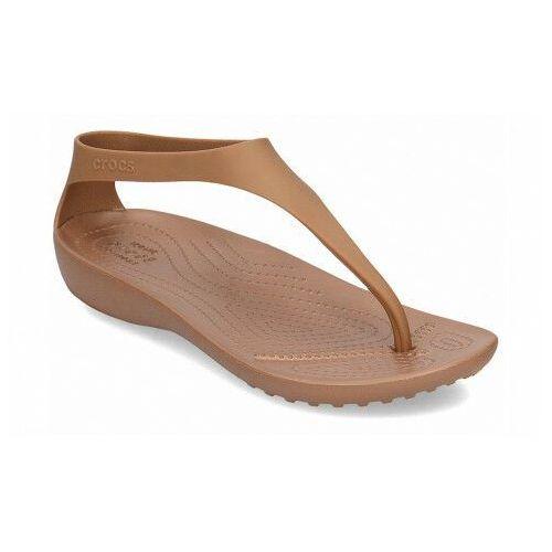 Sandały damskie japonki serena flip sexi brązowe, Crocs
