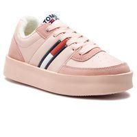 Sneakersy TOMMY JEANS - Light Sneaker EN0EN00395 Silver Peony 658, w 7 rozmiarach