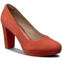 Półbuty CLARKS - Kendra Sienna 261227964 Coral Suede, kolor pomarańczowy