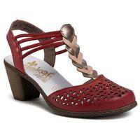 Sandały RIEKER - 40978-33 Rot, w 6 rozmiarach