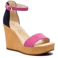 Sandały ANN MEX - 0237 02D+05D Róż/Granat, kolor różowy