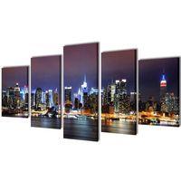 vidaXL Zestaw obrazów Canvas 100 x 50 cm Nowy Jork