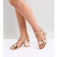 mid block heeled sandals - gold, London rebel