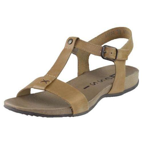 Sandały 41703 - camelowe 11 - nowa wkładka marki Nessi