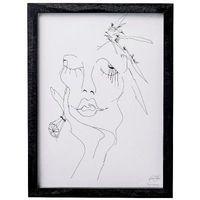 Plakat / grafika szkic kobiety, duży - marki Bloomingville