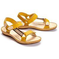 636 żółty, sandały damskie marki Łukbut