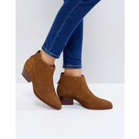 Hudson London Ernest Tan Suede Flat Ankle Boots - Tan, ankle