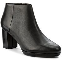 Botki CLARKS - Kelda Night 261235554 Black Combi Leather, 35.5-39