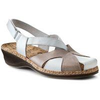 Sandały - 720088-3 beżowy biały, Comfortabel, 35-39