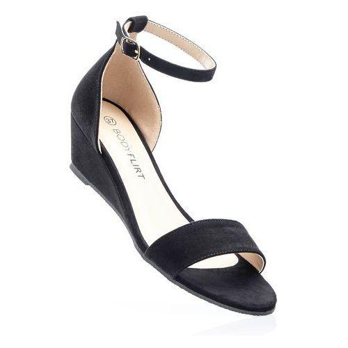 Sandały na koturnie czarny, Bonprix, 36-42
