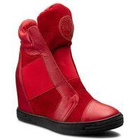 Sneakersy ROBERTO - 528/D Czerw. Lico/Czerw. Welur