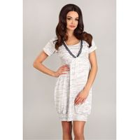 Koszulka nocna koszula nocna model 1742 white/grey - lupo line marki Lupoline