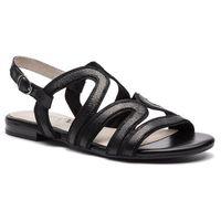 Sandały - 9-28101-22 black glitt.co 090, Caprice, 36-39