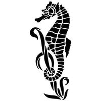 Szablon malarski z tworzywa, wielorazowy, wzór morski 10 - konik morski marki Szabloneria