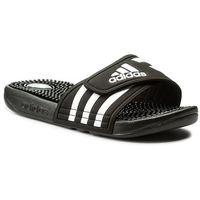 Klapki adidas - adissage W 087609 Black/Black/Runwht, kolor czarny