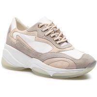 Sneakersy GEOX - D Kirya B D92BPB 00085 C1ZH6 White/Lt Taupe, kolor wielokolorowy