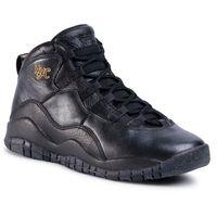 Nike Buty - air jordan 10 retro bg 310806 012 black/black drk grey/mtllc gld