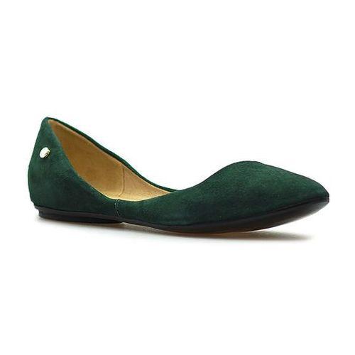 Baleriny 1353 cam verd zielone zamsz marki Venezia