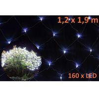 Świąteczna firanka świecąca LED – 1,2 x 1,9 m, zimny biały, kolor biały