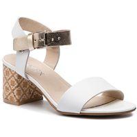 Sandały ANN MEX - 0051 00S+ZŁ+00KR Biały, kolor biały