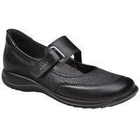 Axel Półbuty na rzepy buty comfort 1576 czarny + stretch h na haluksy - czarny