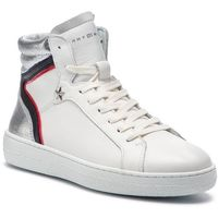 Tommy hilfiger Sneakersy - mid iconic sneaker fw0fw03973 white 100