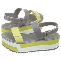 Sandały Zaxy Slash Plat Sandal Fem 17525/90712 Szare (ZA61-a)