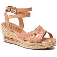 Espadryle TOMMY HILFIGER - Iconic Elba Tommy Pastel FW0FW04055 Silky Nude 297, kolor różowy