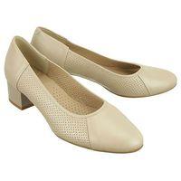 0889p-446-1 jasny beż, czółenka damskie, Marco shoes