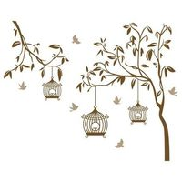 Naklejka dekoracyjna ptaszki w klatce