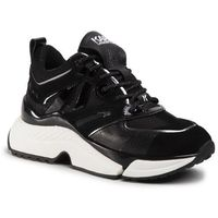 Karl lagerfeld Sneakersy - kl61635 black lthr & textile